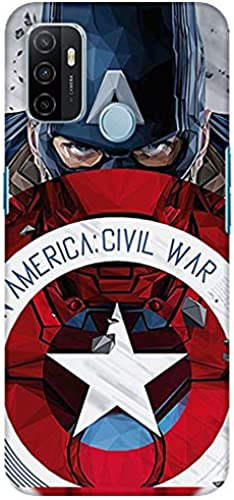 Coverwrap Printed Designer Captain America Civil Slim Light Weight Back Covers For Oppo A53 Oppo A33