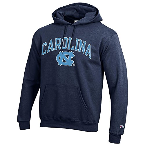 Elite Fan Shop North Carolina Tar Heels Hooded Sweatshirt Varsity Navy - X-Large
