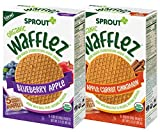 Sprout Organic Baby Food Toddler Snacks Wafflez, Apple Carrot Cinnamon & Blueberry Apple Variety...