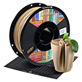 OVERTURE PLA Matte Filament 1.75mm with 3D Printer Build Surface 200mm ?? 200mm, Maple Wood PLA Roll 1kg Spool (2.2lbs), Dimensional Accuracy +/- 0.05 mm, Fit Most FDM Printer (Light Brown)