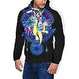 Dig-imon Crest of Friendship Men's Fashion Sweatshirt Hoodie Hooded Pullover Pockets Plus Velvet Black
