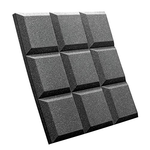 Acoustic Panels Studio Foam Sound Proof Panels Noise Dampening Foam Studio Music Equipment Acoustical Treatments Foam 4 Pcs-12''12''2''-Nine Squares