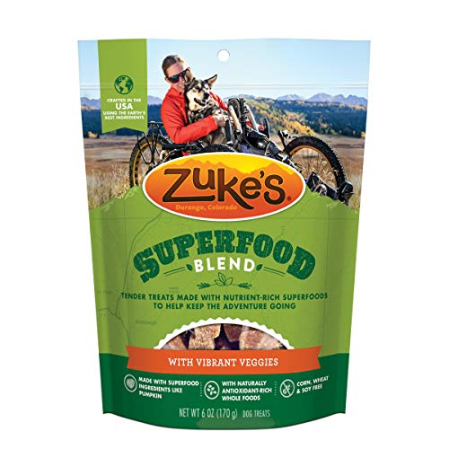 Zuke's SuperFood Blend Natural Dog Treats With Vibrant Veggies - 6.0 oz Bag