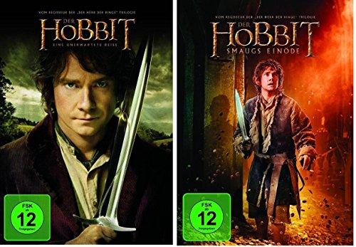 Der Hobbit: Smaugs Einöde + Eine unerwartete Reise * Teil 1+2 * DVD Set