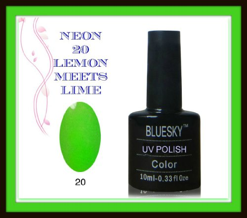 Bluesky UV LED Gel oplosbare nagellak 10 ml neon lime green, 1-pack (1 x 10 ml)