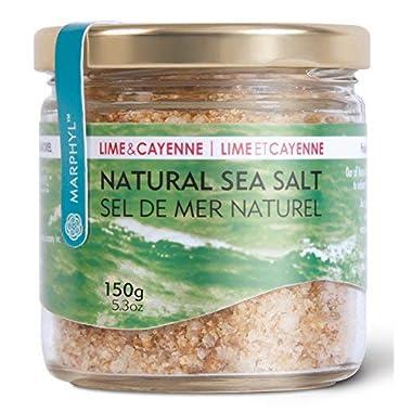 Sea Salt - Fleur de Sel - Natural - Organic Lime & Cayenne - Manually harvested in Vancouver Island, Canada
