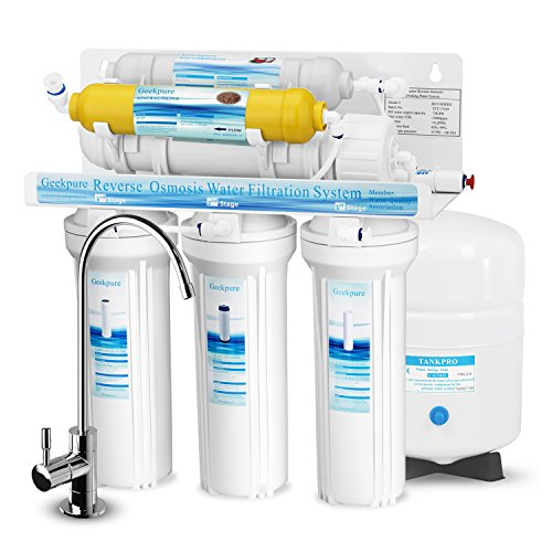 Geekpure 6-Stage Reverse Osmosis Drinking Water Filter System with Mineral Remineralization Filter-75 GPD