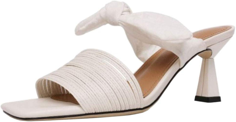 Melady Women Fashion Mid Heels Summer shoes Slip On Slide Sandals