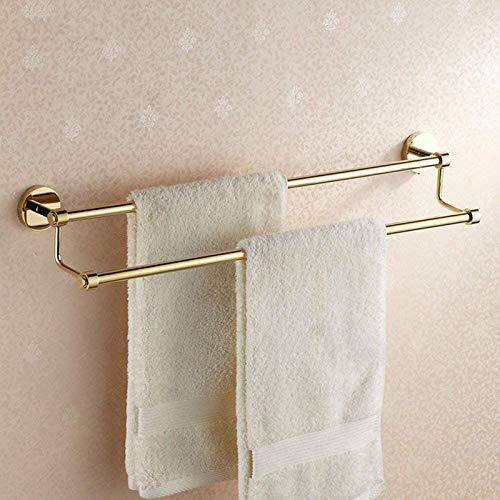 YiGanQiang Soporte de Toalla Cuarto de baño Pendiente de Toalla de Oro Soporte de bañera Chapado en Oro. (Color : Gold)
