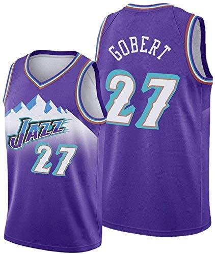 WSUN Camisetas De Baloncesto De La NBA para Hombre # 27 Rudy Gobert Camiseta Clásica NBA Camisetas Sin Mangas para Jóvenes Trajes De Competición Deportiva Al Aire Libre,XL(180~185CM/85~95KG)