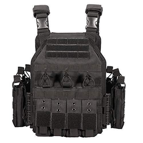 MASII Outdoor Taktische Weste Mehrzweck-Feldweste, Sportausrüstung, taktische Ausrüstung, schwarz