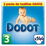 Dodot Baby Diapers Size 3 (5-10 kg) - 140 diapers + 2 packs of towels