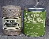 Nutscene Tin O Twine Dose natur und Refill (Nachfüllpack), Jutegarn Juteschnur Pflanzgarn Gartengarn Gartenschnur Bindegarn Bindeschnur