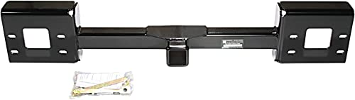 """Reese Towpower 65022 2"""" Square Front Mount Hitch Receiver, Black, 9000 lbs."""