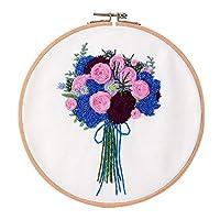 kowaku コットンスタンプ刺繍キットDIY刺繍ホリデーギフト - 多色3