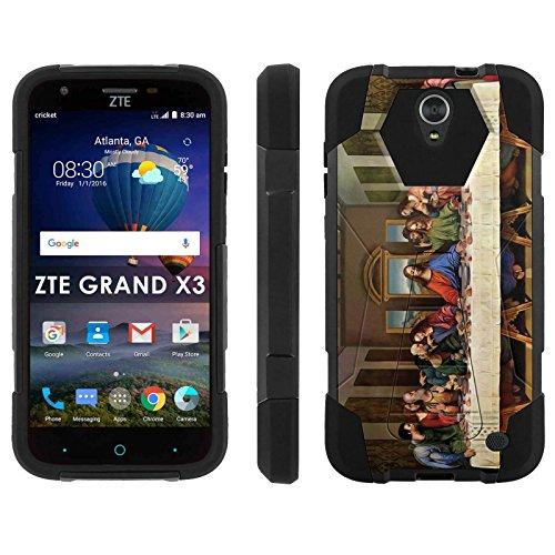 ZTE Uhura Grand X3 Z959 [Warp 7] Phone Cover, Last Supper - Black Hexo Hybrid Armor Phone Case for ZTE Uhura Grand X3 Z959 [Warp 7]