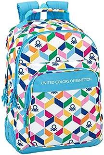 Benetton Mochila, color celeste/multicolor, 42 cm (611852773)