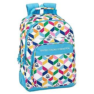 Safta Mochila Escolar Benetton «Geometric» Oficial 320x150x420mm