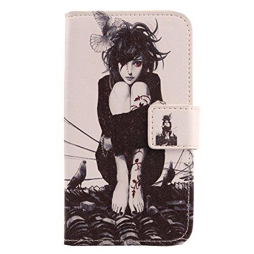 Lankashi PU Flip Leder Tasche Hülle Hülle Cover Handytasche Schutzhülle Etui Skin Für ZTE Nubia NX523J Z11 Max (Roof Girl Design)