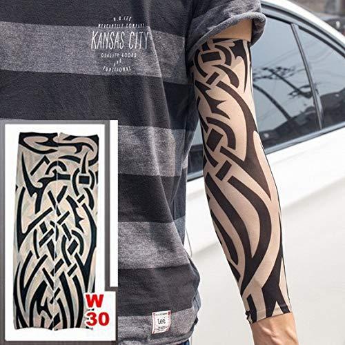 2pc Nuevas Mangas de Tatuaje Muchos Estilos Calcetines elásticos del Brazo Azadas Sol diseño de la Estatua de Buda Tatuaje Femenino Fresco 2pc-
