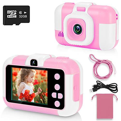 ASIUR Fotocamera Digitale per Bambini 1080P HD Videocamere Giocattolo Ricaricabili Videocamere per Bambini per Ragazze e Ragazzi 3-8 Anni Compleanno Natale Capodanno Regalo (Rosa)