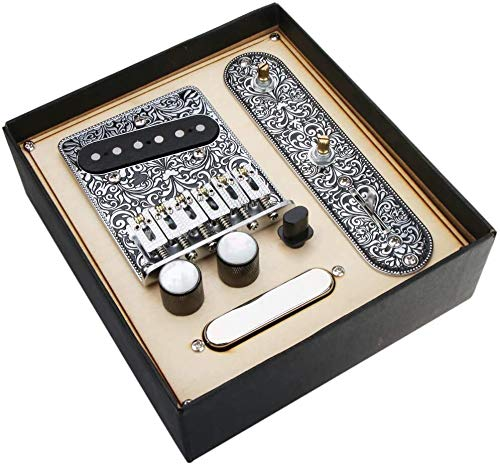 Alnicov 6 Strings Saddle Bridge Plate, 3 Way Switch Control Plate, Neck...
