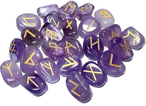 Lila natürlichen Amethyst Steinen Rune Set Healing Reiki Trommelsteine (25PC