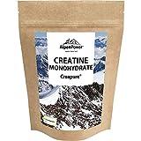 AlpenPower CREATINE MONOHYDRAT Creapure 500g I Hochwertiges Creatin Pulver mit 99,9% Reinheit I Laborgeprüft & Vegan I Made in Germany