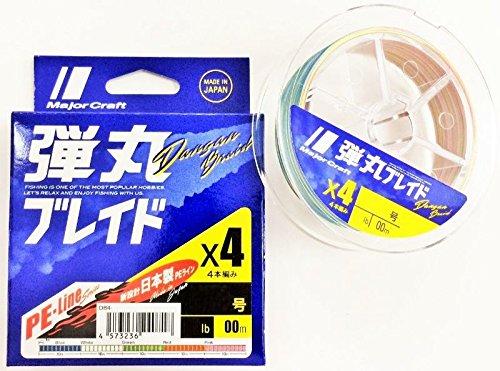 メジャークラフト PEライン 弾丸ブレイド 4本編み マルチカラー DB4-300/3MC マルチカラー 300M/3.0号