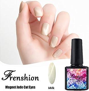 Frenshion Magnetic Cat Eye Jade Gel Polish 3D Gel Nail Polish Soak Off UV LED Milk 10ml