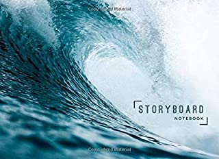 Storyboard Notebook: 8.25 x 6 in, 6 Panel 16:9, 250 Pages, Ocean Wave Theme