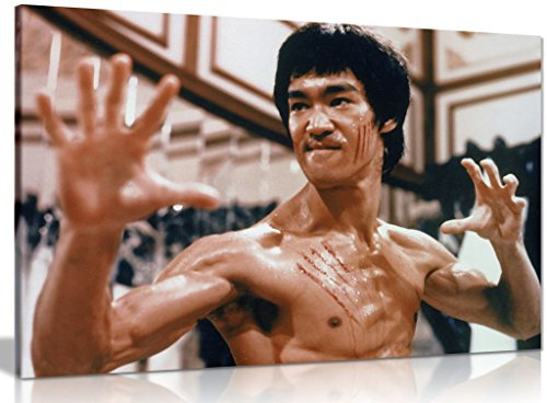 Bruce Lee Enter The Dragon Martial Arts Canvas Wall Art Picture Print...