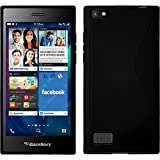 PhoneNatic BlackBerry Leap schwarz Silikon Hülle S-Style