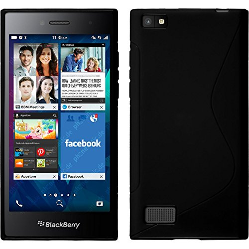 Phonen, BlackBerry Leap Black S Style Silicone Case with 2Screen Protectors - http://coolthings.us