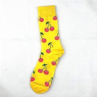 Calcetines de los hombres moda nueva calcetines de los hombres de moda personalidad de la fruta serie calcetines de tubo de los hombres de alta para ayudar a los calcetines deportivos de tub