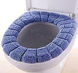 Fulinmen Asiento de Inodoro Fundas de Cojines-O en Forma de Asiento de tocador Cojín - de Punto de Asiento de Inodoro Cojín -Universal, Verde (Color : Blue)