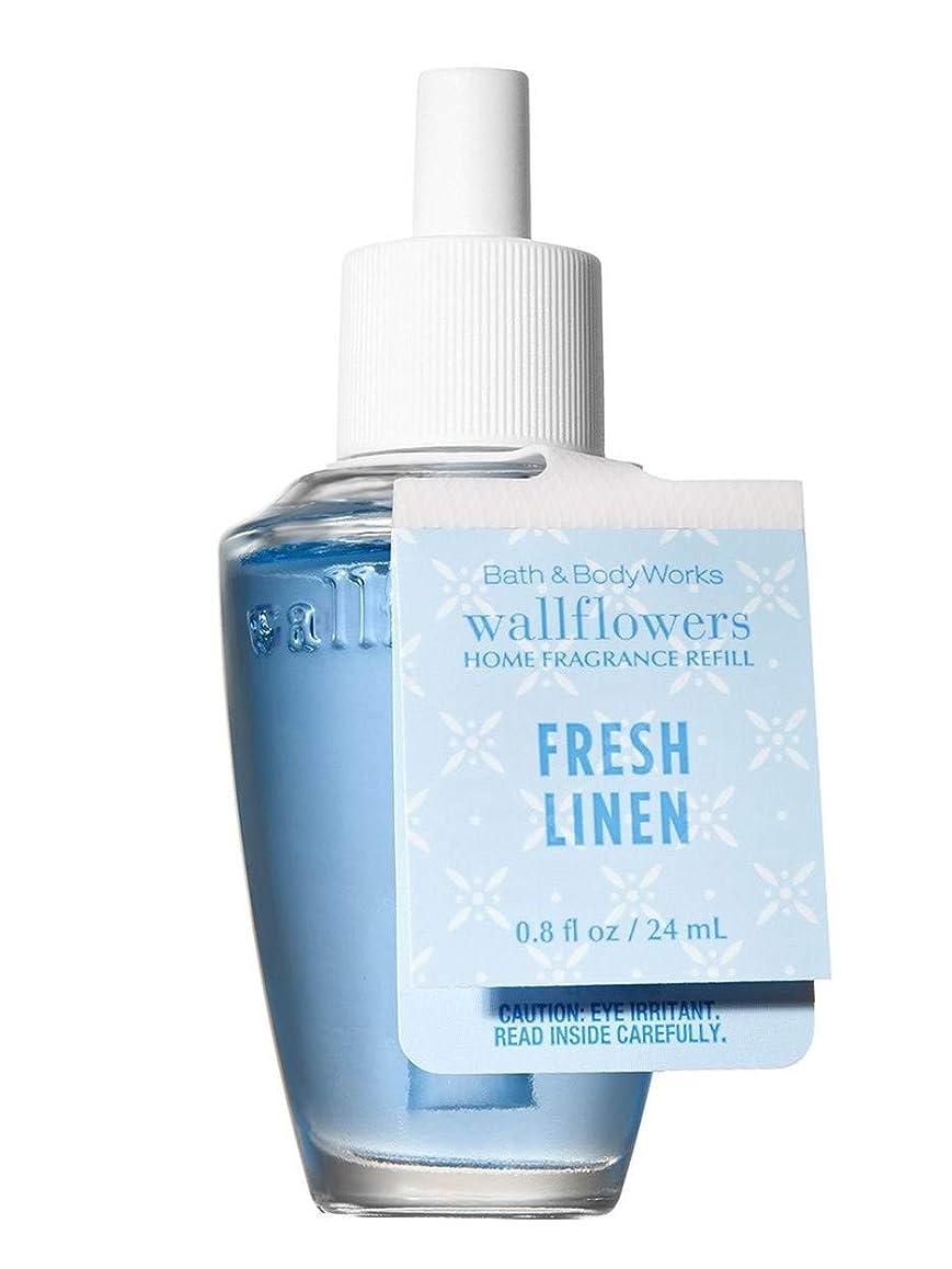 最少規範大【Bath&Body Works/バス&ボディワークス】 ルームフレグランス 詰替えリフィル フレッシュリネン Wallflowers Home Fragrance Refill Fresh linen [並行輸入品]