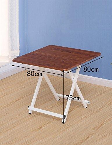 Accueil Table Pliante Portable Table carrée Tableau de Table Table d'enfants (6 Couleurs, 3 Tailles en Option) (Couleur : A, Taille : L*W*H:80 * 80 * 75cm)