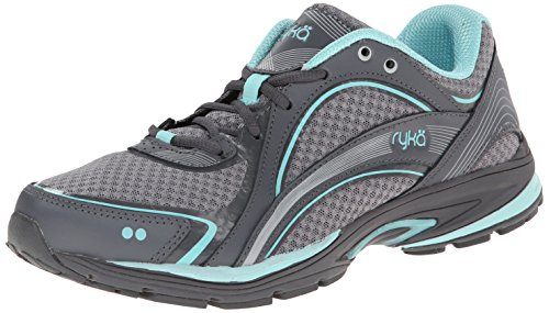 RYKA SKY WALK Walking Shoe, Frost Grey/Aqua Sky/Iron Grey, 6 W US
