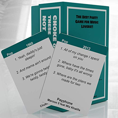 Choke on These Notes Music Trivia Game
