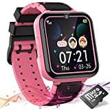 Kids Games Watch for Girls Boys, HD Touch Screen Kids Smartwatches with Games Music Player Two-Way Call SOS Flashlight Calculator Recorder Alarm Clock, Christmas Birthday Gifts for 3-14Y (Pink)