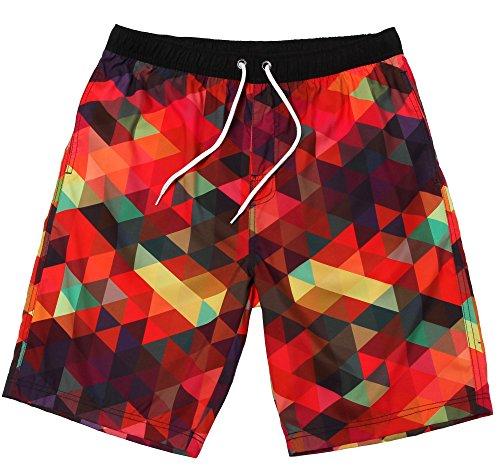 "WUAMBO Men's Hybrid Boardshorts Drying Fast Swimming Shorts Waist 26""-28"""