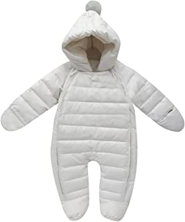 Newborn Baby Hooded Winter Puffer Snowsuit with Shoes and Gloves