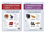 Conversation Cards, Two Deck Set: Familiar Words and Nostalgic Items   Dementia Activities for Seniors   Alzheimer's Products   Memory Loss   Reminiscing, Storytelling