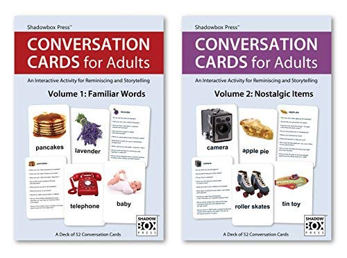 Conversation Cards  Familiar Words & Nostalgic Items  Reminiscence Activity for Alzheimer's / Dementia / Memory Loss Patients and Caregivers