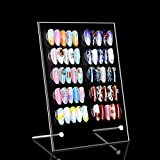 LIARTY Acryl Magnetischer Nagelkunst Nailart Display Halter Ständer Nail Art Tips Ausstellungsstand für Nagelsalon