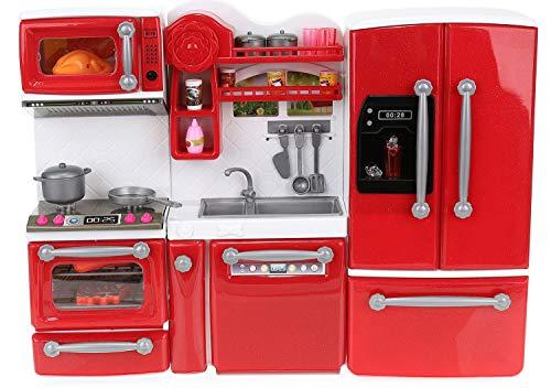 ISO TRADE Puppenküche mit Accessoires und Zubehör 47 TLG. Spielset Küche 9425