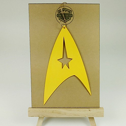 Star Trek Ornament | Live Long and Prosper | Science Fiction | Geeky Gifts | Nerdy Gifts | Geek Christmas | Rear View Mirror | Trekkie