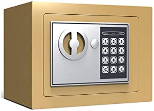 LLRYN Electronic Combination Safe-Large Steel Strongbox with Keypad, Manual Override Key-Protect Money, Laptop, Jewelry, D...