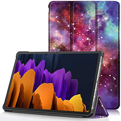 TTVie Case for Samsung Galaxy Tab S7+, Ultra Slim Lightweight Smart Shell Stand Cover with Auto Wake/Sleep Function for Samsung Galaxy Tab S7+ 12.4' Tablet 2020 Release, Milky Way